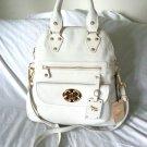 EMMA FOX Handbag-Leather Classics Crossbody Bag in Bright White-NWT-SRP:$298.00
