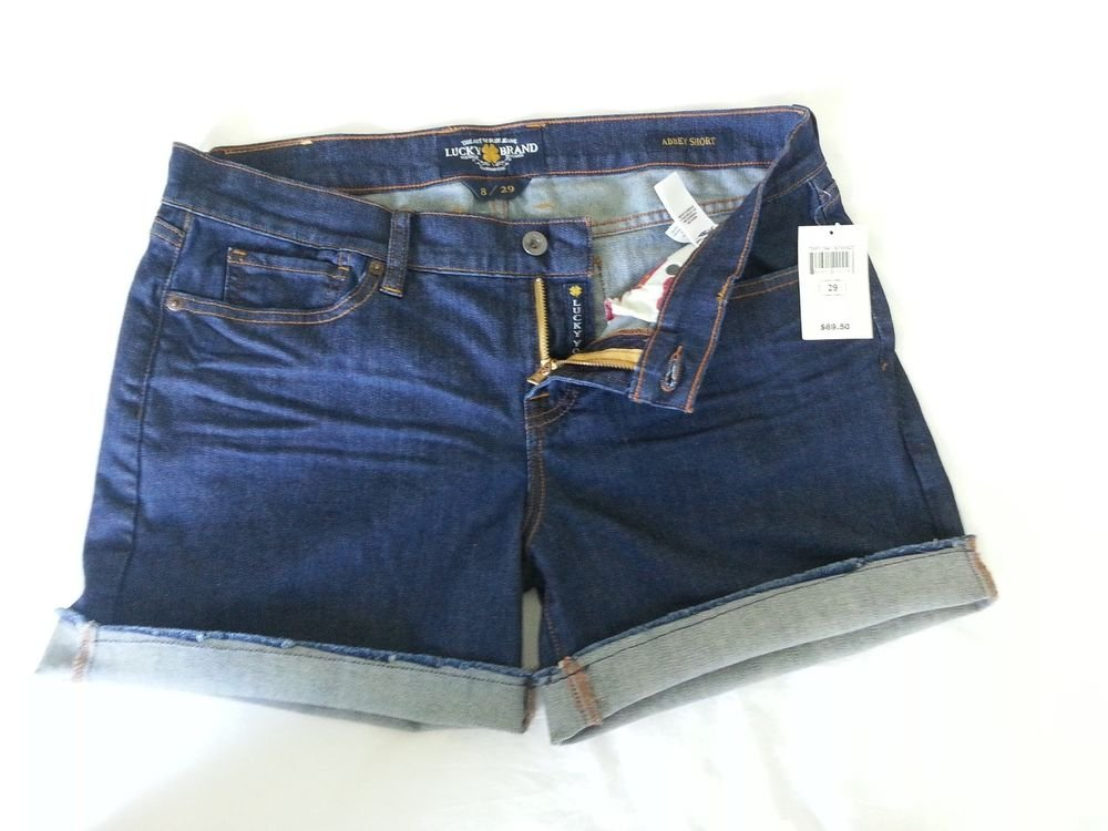 Women's Lucky Brand Denim Abbey Frayed Cuffed Short Size 8 (29)-NWT-SRP: $69.50