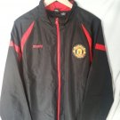 Manchester United Official Full Zip Men's Black Windbreaker Jacket Size XL-NWT