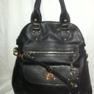 EMMA FOX Leather Classics Foldover Tote/Crossbody Bag in Black NWT-SRP:$298.00