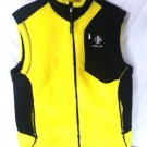 RLX Ralph Lauren Men's Fleece Yellow/Black Reflective Cycling Vest