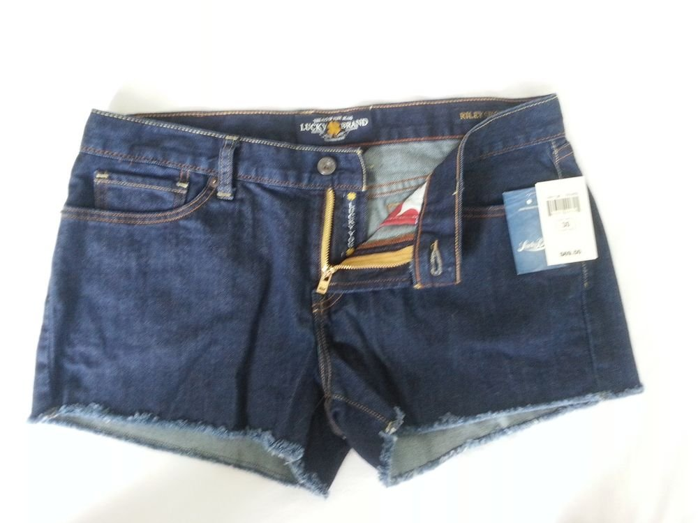 Women's Lucky Brand Jeans Riley Short Size 10, 12, 14 Dark Wash-NWT SRP $69.50