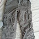 Obermeyer Grey Cord Ski or Snowboard Pants Junior's Size 12 Extended Wear System
