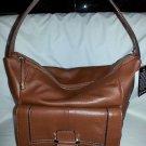 B. Makowsky Bond Street Leather Hobo Shoulder Bag in Maple Brown-NWT-SRP $238.00