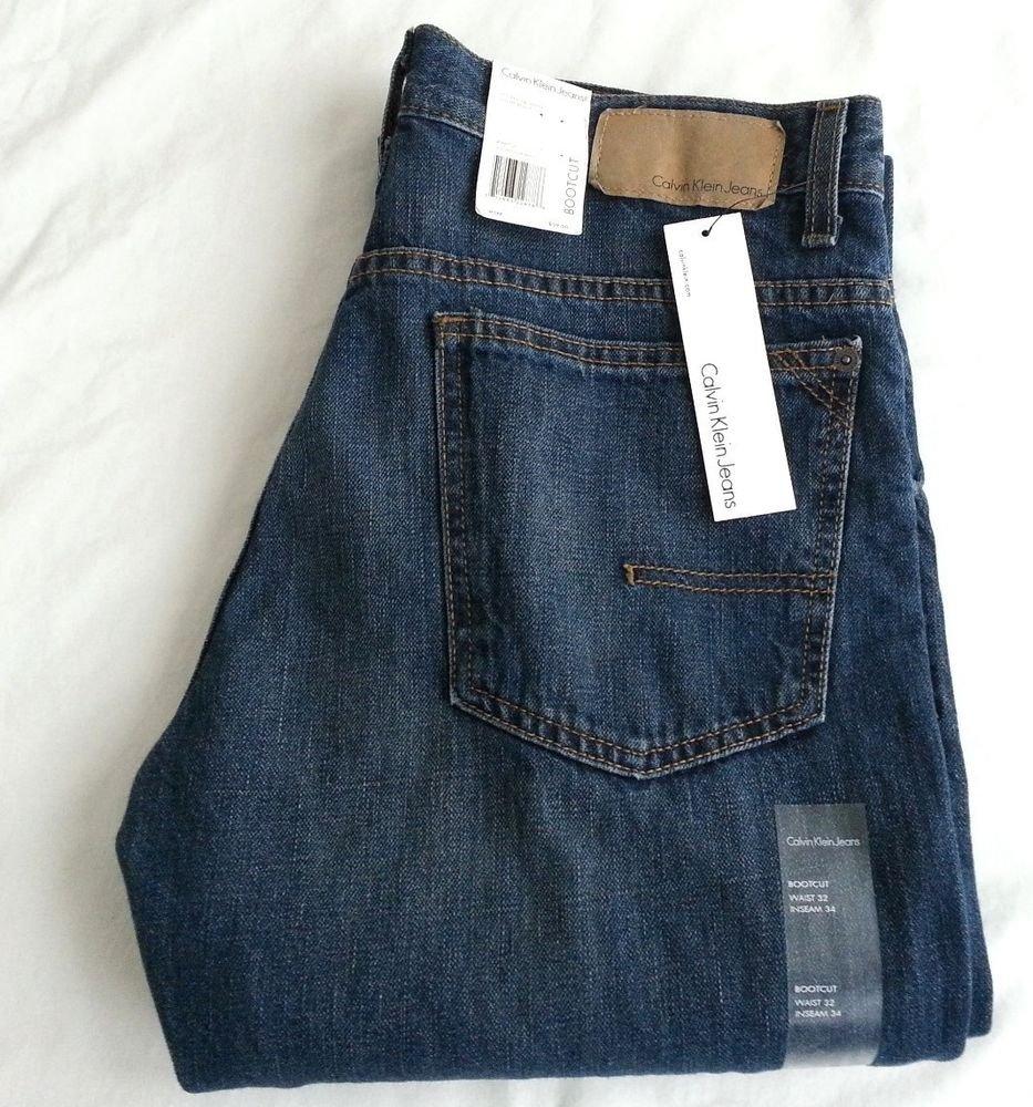 Calvin Klein Bootcut Men's Jeans in Medium Blue 30x32/32x34-NWT-RP: $59.50