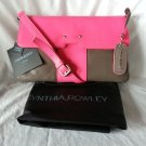 Cynthia Rowley Leather Crossbody/Clutch Bag in Chocolate Brown & Neon Pink - NWT