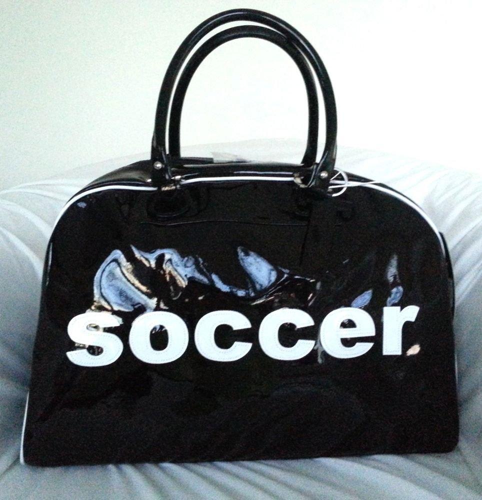 Trumpette PVC Large 'Soccer' Schleppbag Bag in Black-NWT-RP: $80+