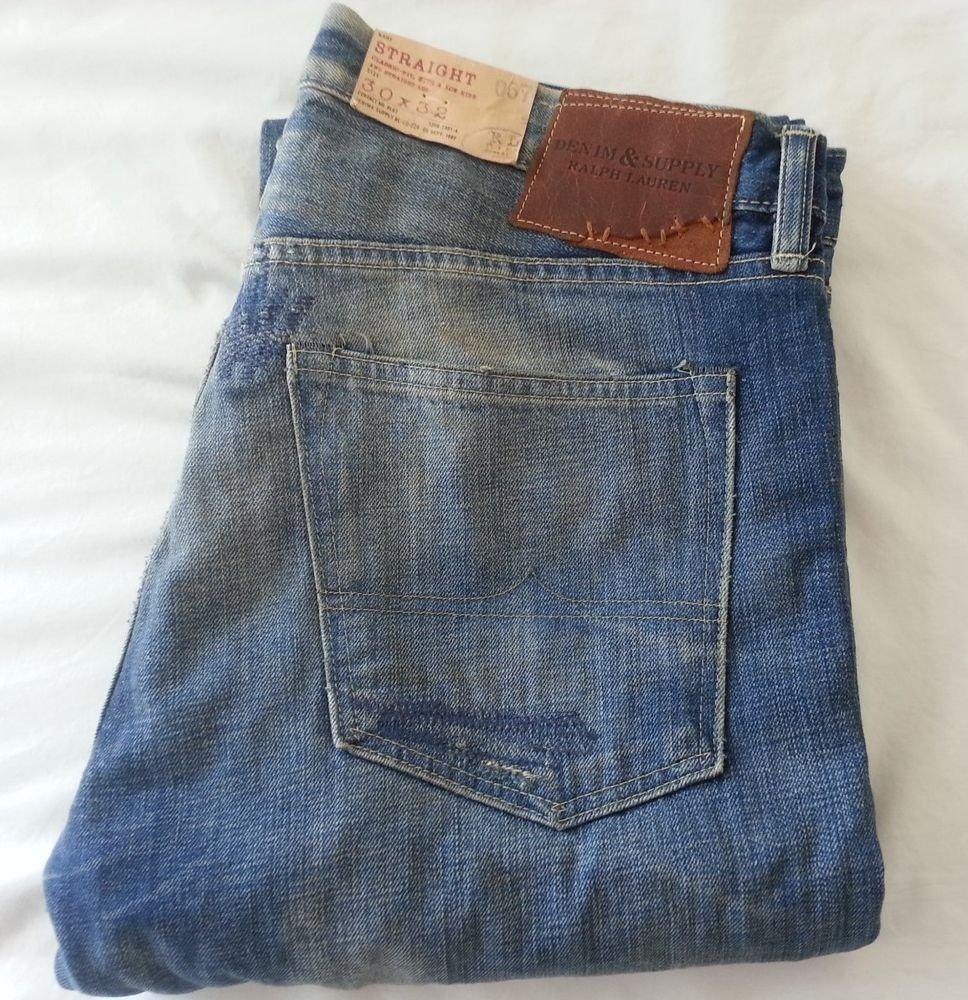 Denim & Supply Ralph Lauren Jeans Straight-Fit Catskill Wash Sz 32 x 30 NWT