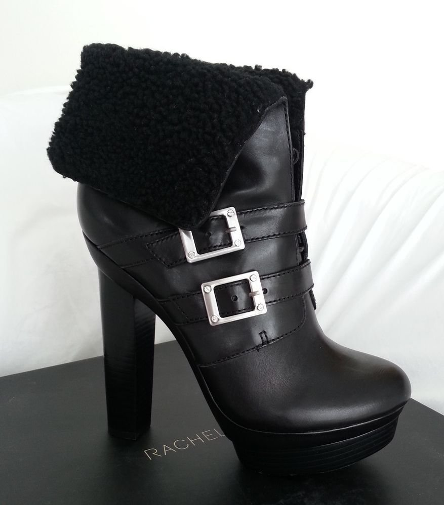 Rachael Zoe Piper Leather & Shearling Lace Up Platform Boot Size 10-NIB-RP:$525