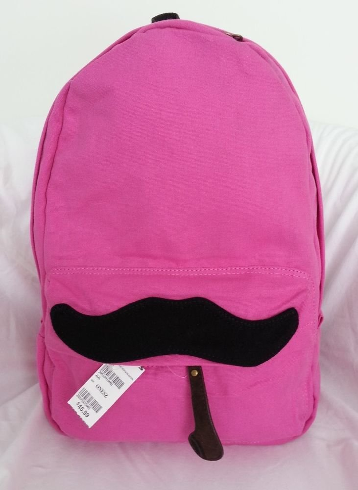 The Mustache Backpack in Pink-NWT