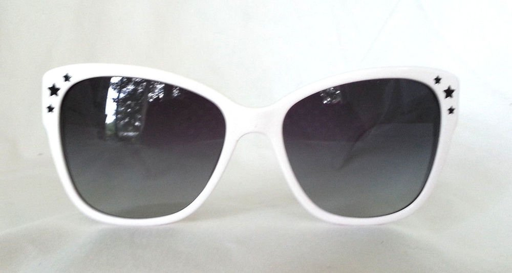 Dolce & Gabbana Sunglasses White with Black Stars DG4124 Made in Italy - NWOB