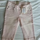 Levi's Girls Skimmer Adjustable Cropped Denim in Pink Size 14-NWT-SRP: $36