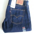 MEN'S LEVI'S 514 Slim, Straight Fit Dark Blue Jeans Sz 36 x 32 NWT - SRP $58