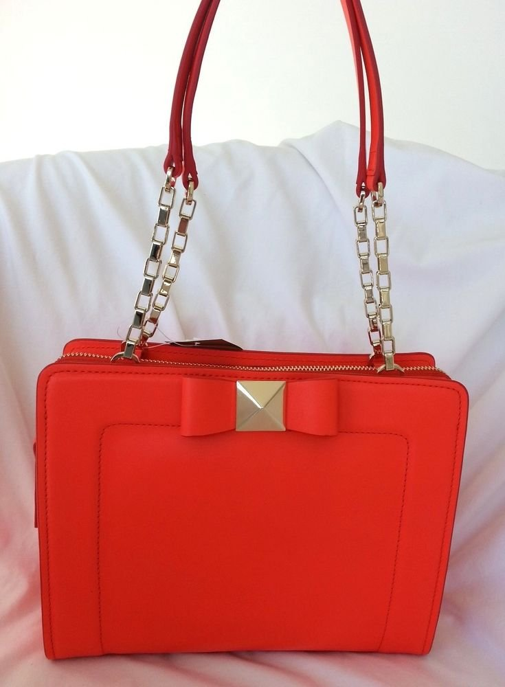 Kate Spade New York Leather Bow Terrace Monroe Bag in Maraschino-NWT: SRP:$398