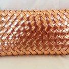 Deux Lux Wallet Metallic Sparkle-Zip-Around Silver, Gold, Rosegold-NWT-RP: $80