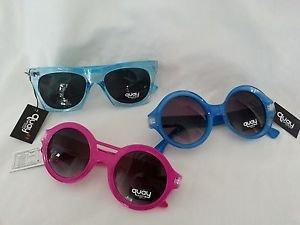 Quay Australia Eyeware Pink or Blue Round, Square Blue Wayfarer Sunglasses-NWT