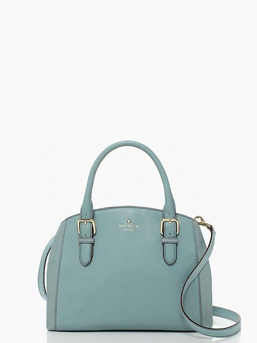 Kate Spade Handbag Brighton Park Sloan Satchel/Shoulder Bag in Dusty Blue NWT