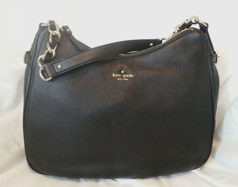 Kate Spade New York Cobble Hill Finley Hobo Shoulder Bag in Black NWT: SRP: $348
