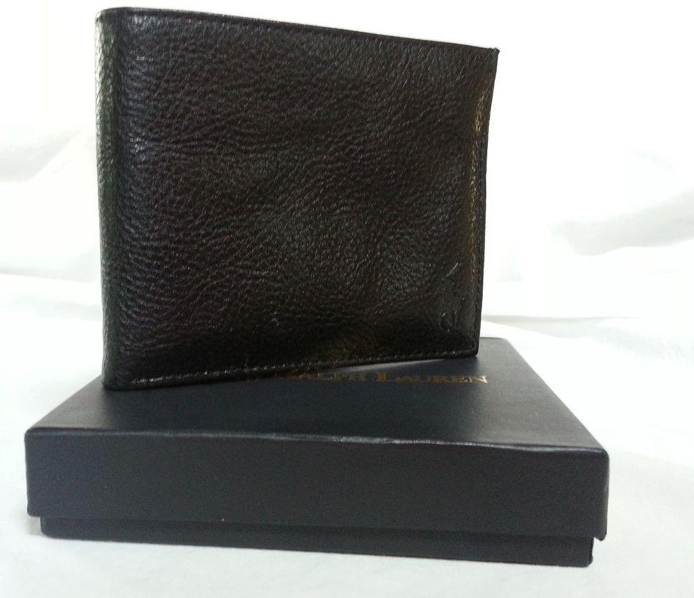 Polo Ralph Lauren Men's Black Textured Leather Wallet