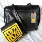 Pour La Victoire Arken Long Leather Messenger/Shoulder Bag  Black