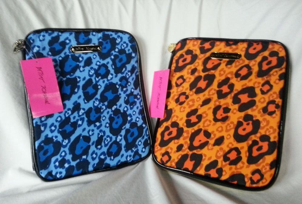Betsey Johnson  Handbags Cheetah iPad/Ereader Case Blue or Orange-NWT-SRP: $48