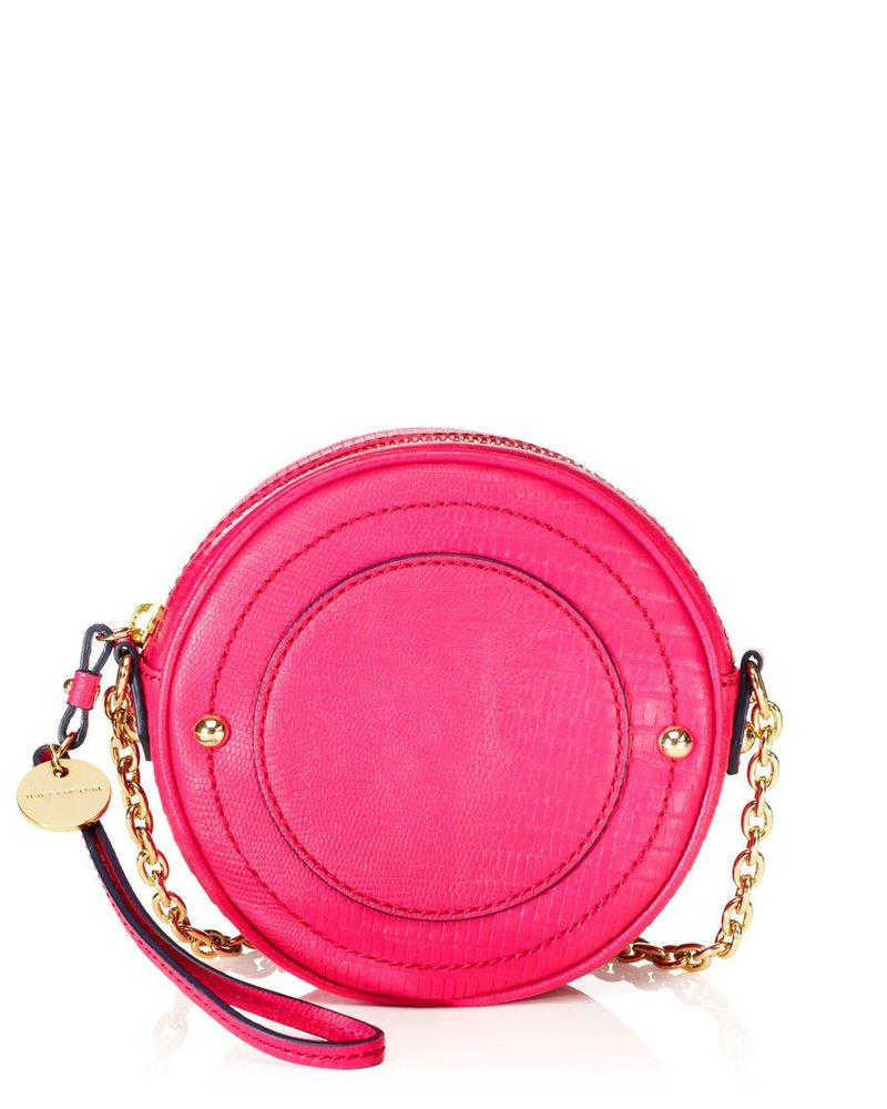 Juicy Couture Handbags Sierra 'Lizard' Leather Mod Crossbody Pink