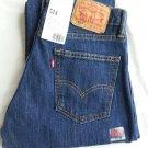 MEN'S LEVI'S 514 Slim, Straight Fit Dark Blue Jeans Sz 30 x 30