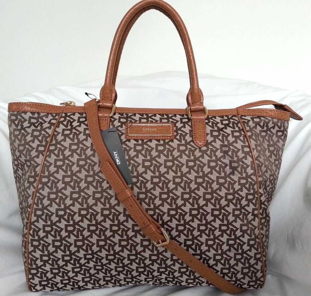 DKNY DONNA KARAN Town & Country Tote/Shoulder Bag in Caramel