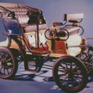 Vintage 1880s Car Counted Cross Stitch - Aida 14 Count