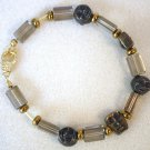 Metal Mask N' Glass Bracelet - Item #B5