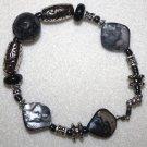 Black Mother-of-Pearl Bracelet - Item #B14