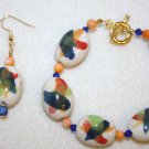 Artist's Pallette Bracelet & Earrings - Item #BES12