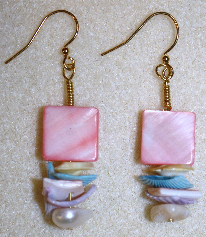 Pastel Shell Earrings - Item #E4