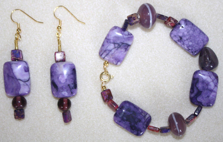 Radiant Orchid Bracelet & Earrings - Item #BES21