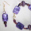 Radiant Orchid Bracelet & Earrings - Item #BES21