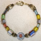 Striped Millefiori Bracelet - Item #B30