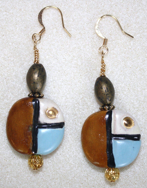Geometric Design Earrings - Item #E62
