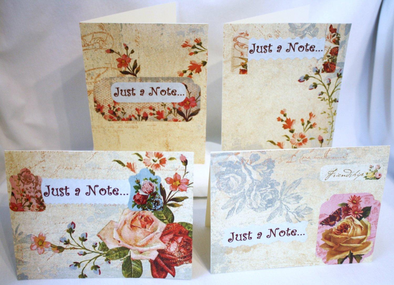 Victorian Floral Notecard Set - Item #NCS9