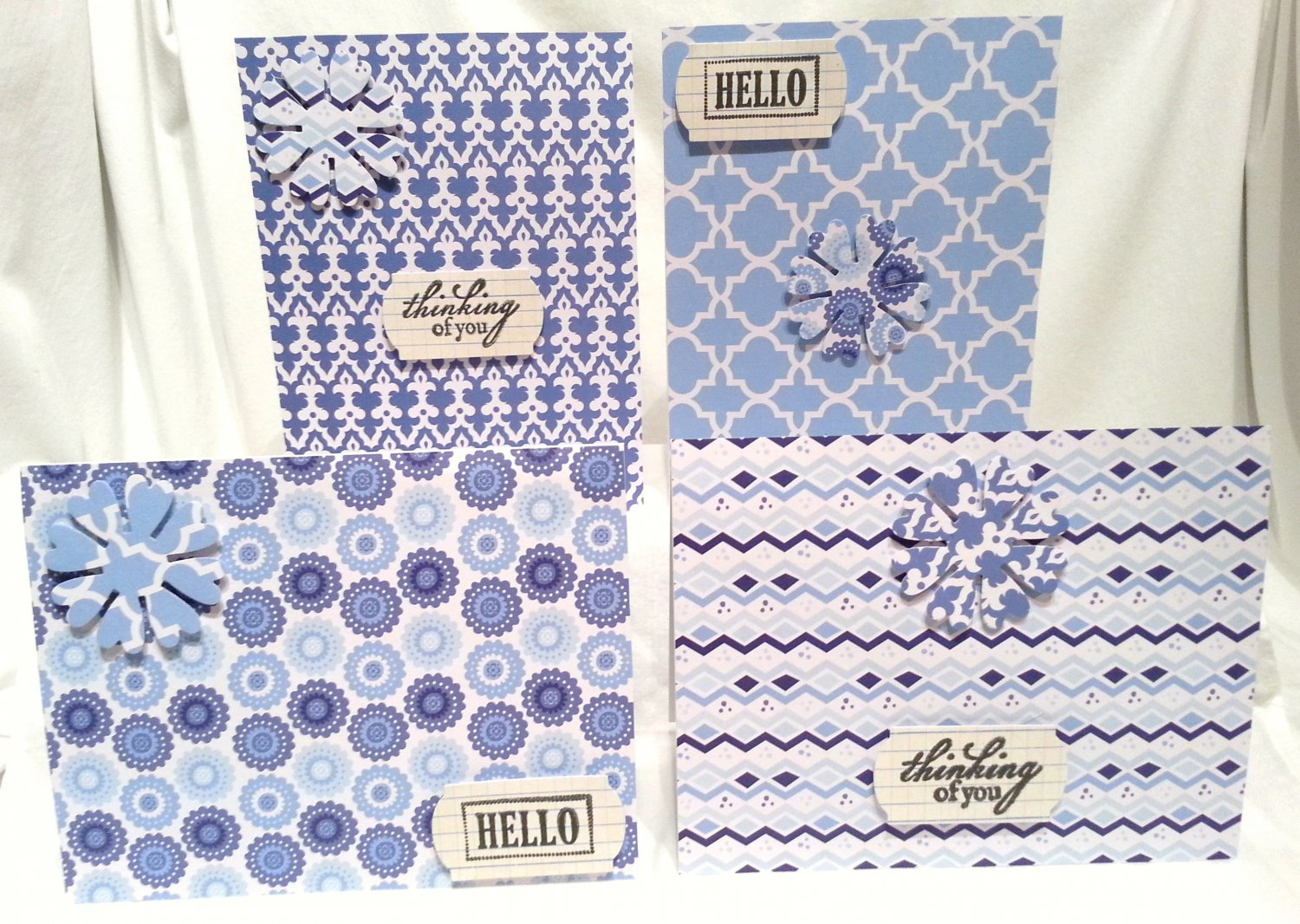 Blue Geometrics Notecard Set - Item #NCS36