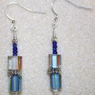 Striped Millefiori Earrings - Item #E104