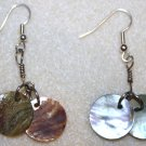 Shell Disk Earrings - Item #E149