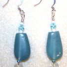Aqua Focal Earrings - Item #E160