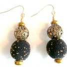 Black N' Gold Design Earrings - Item #E180