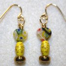 Millefiori Heart Earrings - Item #E233