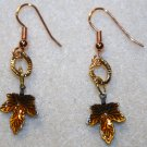Golden Fall Leaves Earrings - Item #E234