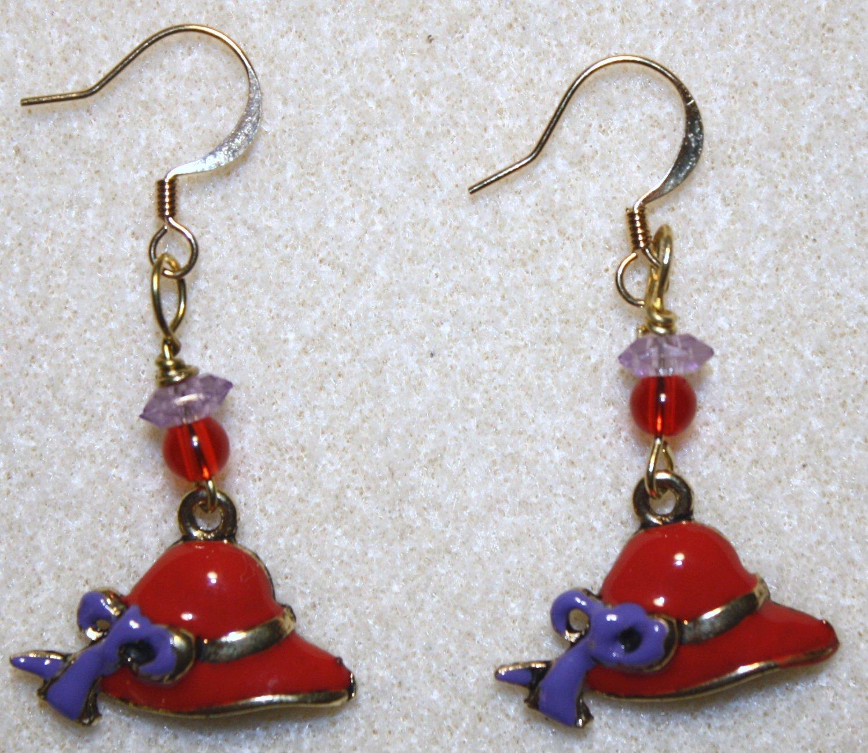 Red Hat Society Earrings - Item #291