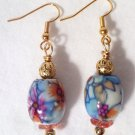 Pretty Painted Floral Earrings - Item #E328