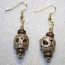 Ghanaian Brass Earrings - Item #E338