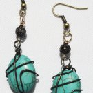 Teal Oval Earrings - Item #E367