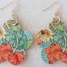 60's-Style Paper Decoupage Earrings - Item #E13